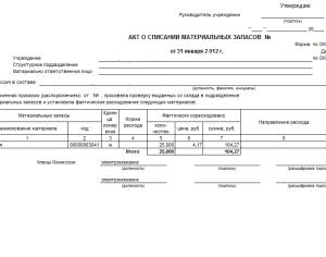 приказ об утверждении норм расхода материалов образец