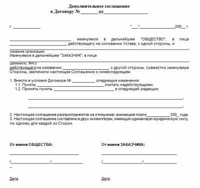 Дополнительное Соглашение К Договору Об Изменении Преамбулы Образец - фото 4