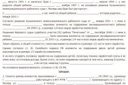 образец заявления об изменении суммы алиментов